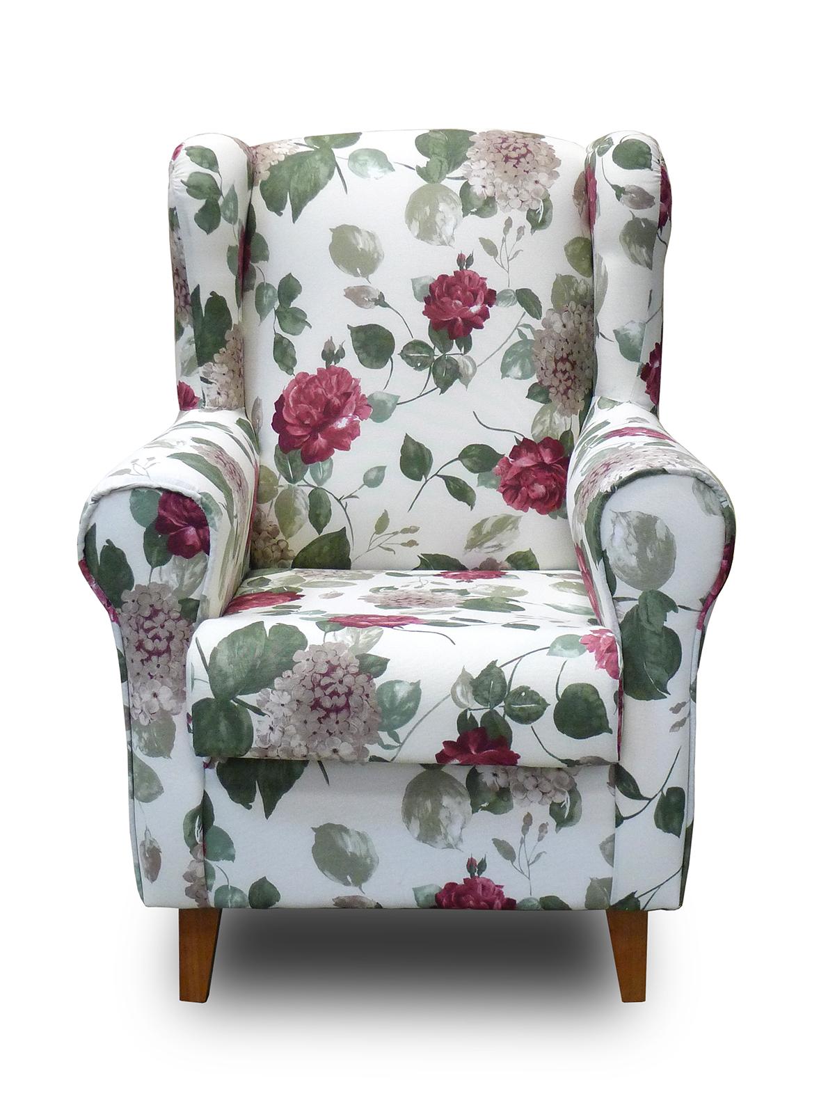 Sill n orejero con estampado floral estilo vintage limage for Sillon orejero comodo