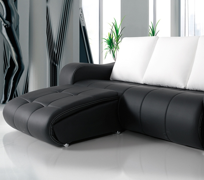 Chaiselongue y puffs extrables Limage